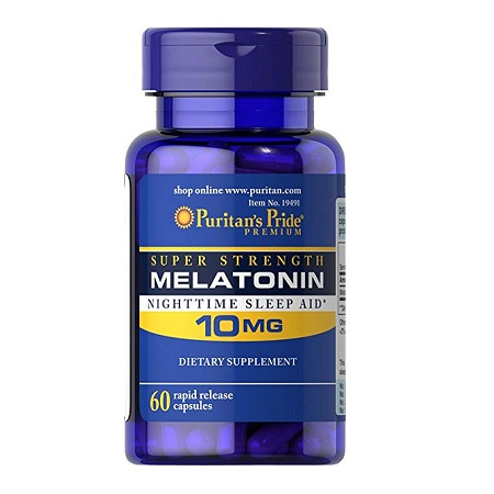 melatonin 10mg puritan's pride lọ 60 viên