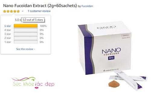 Sản phẩm Nano Fuicoidan review trên Amazon