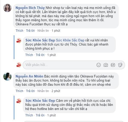 Okinawa Fucoidan 150 viên review trên facebook