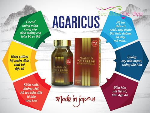 Tác dụng của viên thể nấm Agaricus