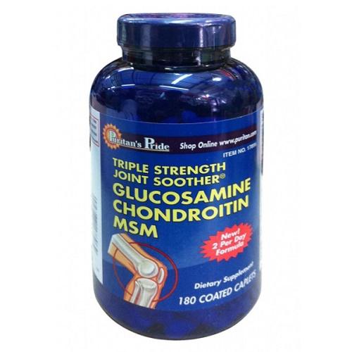 viên uống bổ xương khớp glucosamine chondroitin msm 180v