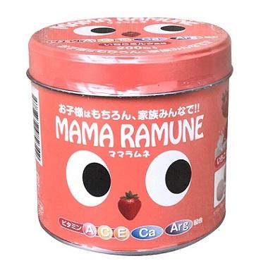 Kẹo Cho Trẻ Biếng Ăn Mama Ramune Nhật Bản 200 Viên Vị Dâu Hấp Dẫn
