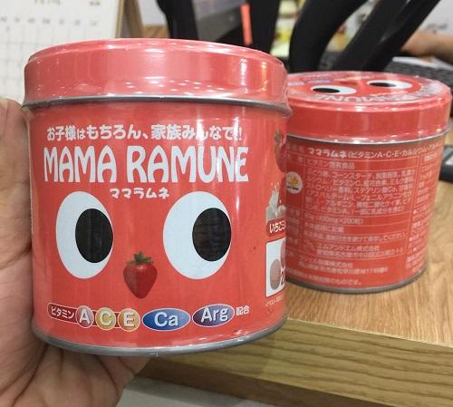 Kẹo Cho Trẻ Biếng Ăn Mama Ramune Nhật Bản 200 Viên