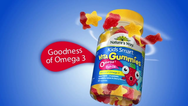 Vita gummies omega 3 fish oil giúp bé thông minh, sáng mắt và chắc khỏe xương