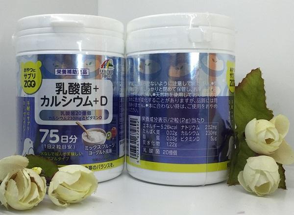 Kẹo canxi của nhật d unimart riken giúp chắc khỏe xương và ổn định đường ruột