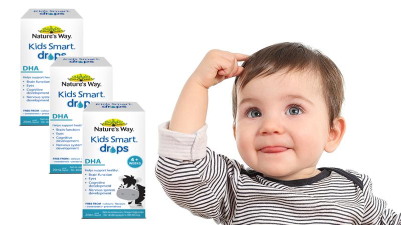 Kid smart drops dha giúp phát triển trí não và tăng nhận thức cho bé