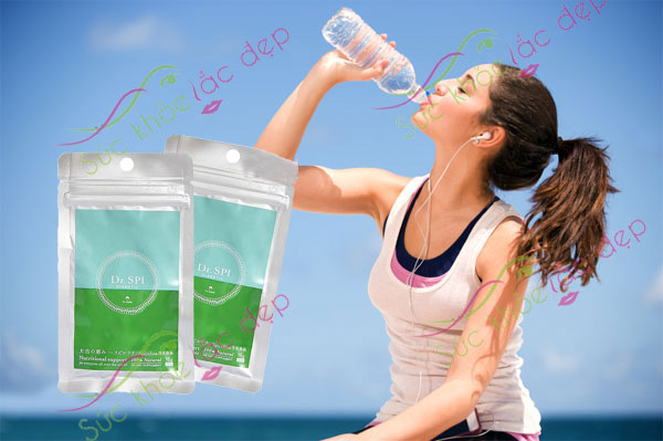 Tảo Spirulina phòng ngừa hỗ trợ điều trị tiểu đường Dr Spi Diabetic nhật bản bộ 2 gói sản phẩm