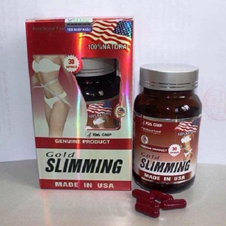 Viên giảm cân nhanh Gold Slimming - giảm cân, đốt cháy mỡ hiệu quả