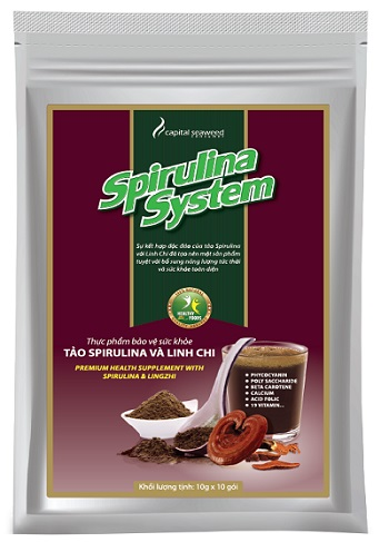 Thực phẩm tốt cho sức khỏe Tảo Spirulina và Nấm Linh Chi
