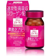 viên uống collagen Meiji Beauty làm căng da chống lão hóa Nhật Bản