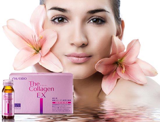 collagen shiseido ex giúp da săn chắc mịn màng