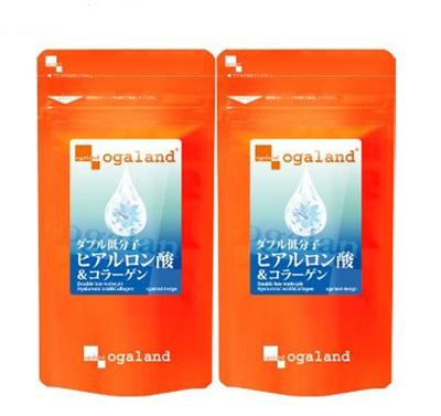 Viên uống làm đẹp da Double Nano Hyaluronic Acid And Collagen Ogaland Nhật Bản