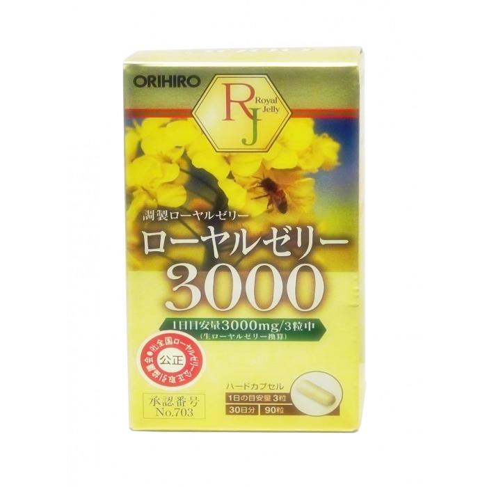 Hộp Sữa ong chúa tươi Orihiro 3000 mg Nhật Bản