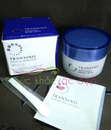Transino Whitening Repair Cream sẽ giúp tăng cường độ ẩm