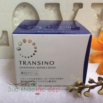 Transino Whitening Repair Cream Japan cung cấp các dưỡng chất cần thiết để tái tạo