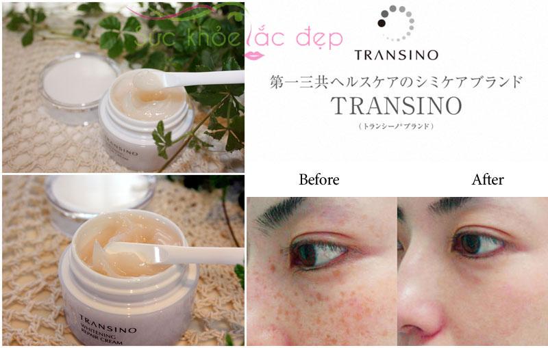 Kem dưỡng trắng da Transino Whitening Repair Cream giúp duy trì một làn da trẻ trung trắng mịn