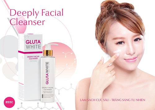 Sữa rửa mặt sạch sâu Gluta White Deeply Facial Cleanser 150ml