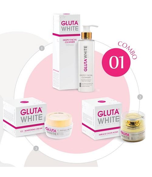 Combo 1: Gluta white giải pháp hoàn hảo cho làn da mụn