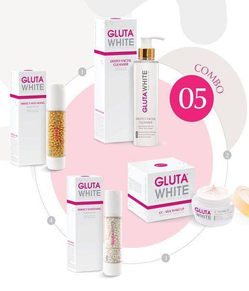Combo5: Gluta white liệu trình dưỡng trắng- tái tạo phục hồi da ưu việt
