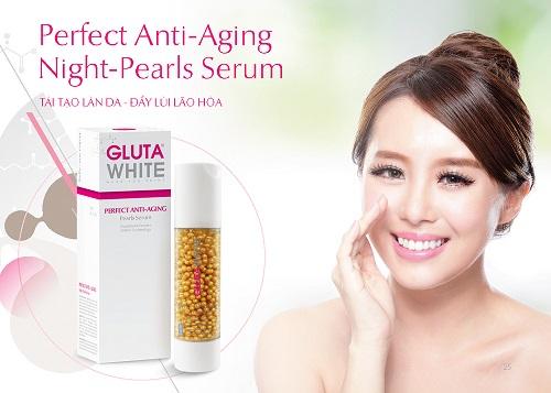 Serum ngọc trai chống lão hóa ban đêm Gluta White Perfect Anti Aging
