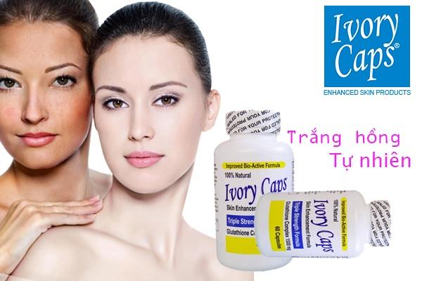 Ivory Caps pills đem lại làn da trắng mịn không tỳ vết