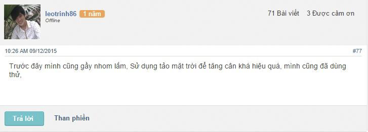 Chia sẻ của Minh trên diễn đàn webtretho