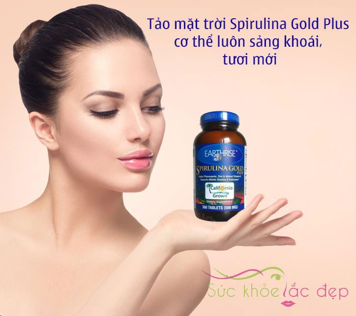 Tảo mặt trời Spirulina Gold Plus - Thực phẩm chức năng tảo mặt trời Mỹ