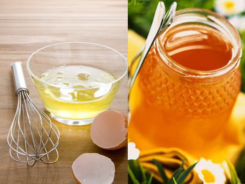 Chữa nám da mặt bằng mật ong kêt hợp với lòng trắng trứng gà