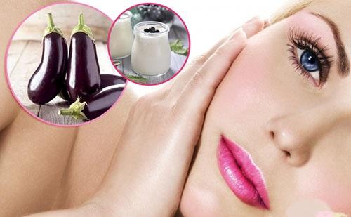 Cách chữa trị nám da mặt tại nhà bằng cà tím và sữa chua