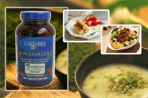 Tảo mặt trời tăng cân Spirulina Gold Plus cung cấp chất dinh dưỡng như các thực phẩm hàng ngày