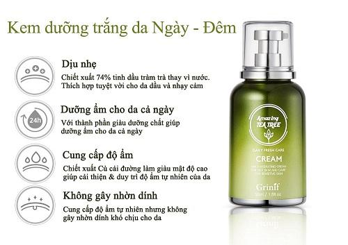 Kem Tràm Trà Grinif Tea Tree Cream 50ml chính hãng