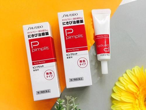 Kem trị mụn trứng cá Pimplit Shiseido dành cho da dầu