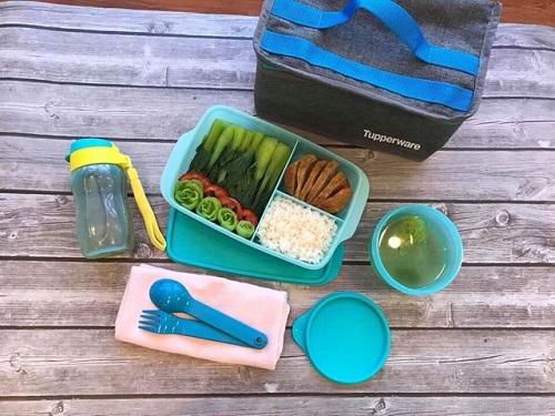 bộ hộp cơm cool lunchy của thương hiệu tupperware
