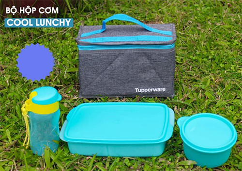 bộ hộp cơm cool lunchy tupperware được đánh giá cao về độ tiện dụng