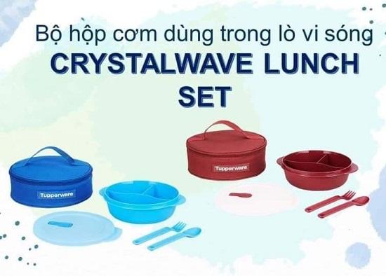 bộ hộp cơm chia ngăn crystalwave lunch set