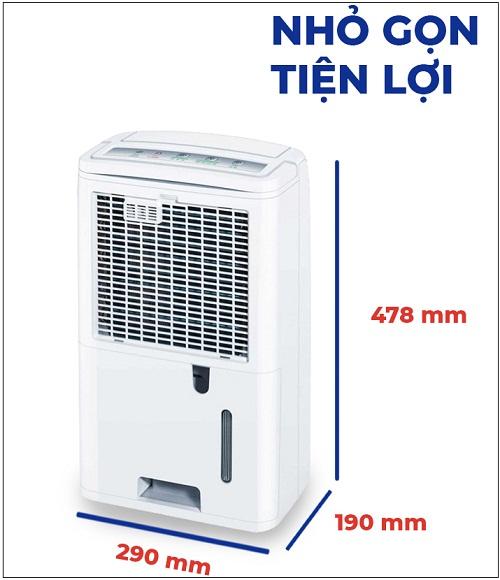kích thước máy hút ẩm beurer le30