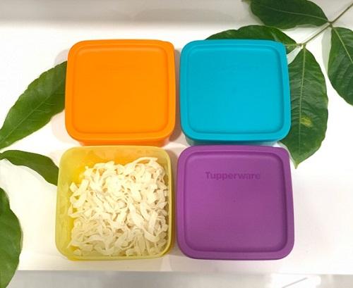 hộp bảo quản thực phẩm tupperware medium square round