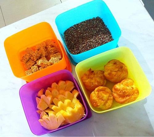 không dùng hộp medium summer fresh tupperware chứa thực phẩm trên 80 độ C