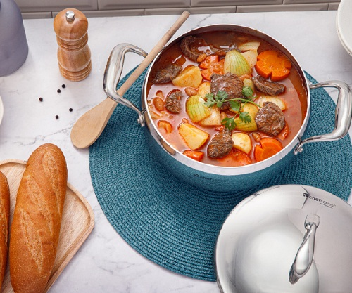 nồi t chef series casserole tupperware nắp kim loại