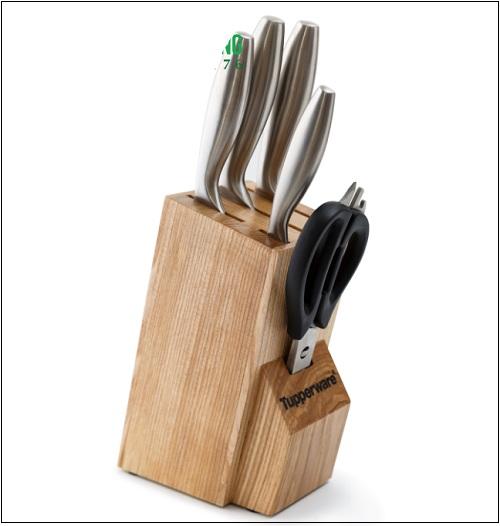 cất trữ bộ dao pro-asian cleaver & paring trên kệ dao sau mỗi lần sử dụng