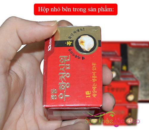An cung ngưu hoàng Hàn Quốc hộp màu đỏ
