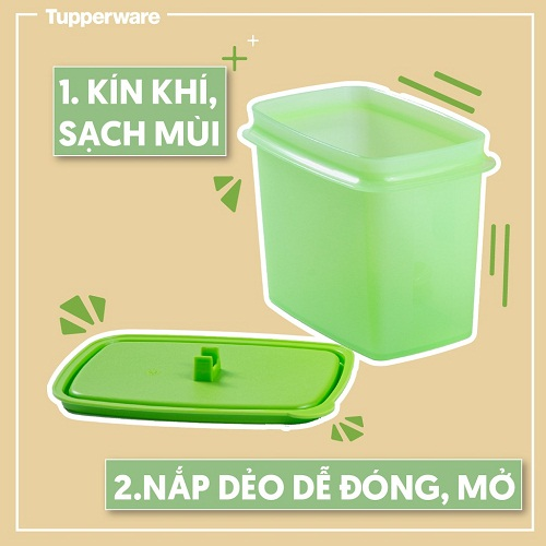 seasonal shelf saver with spoon tupperware kín khí sạch mùi