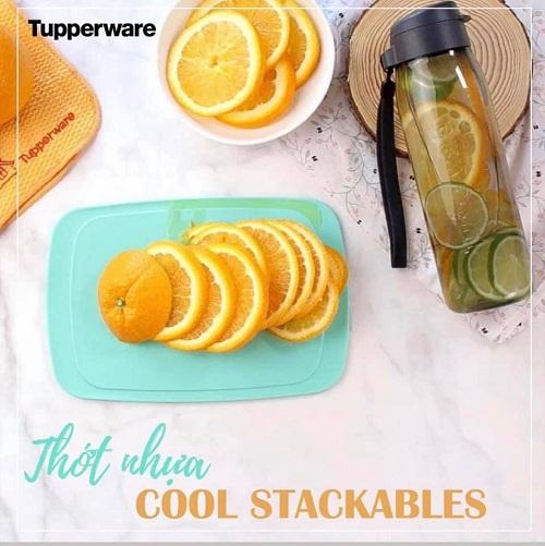 thớt nhựa cool stackables tupperware - sản phẩm tiện ích trong căn bếp gia đình