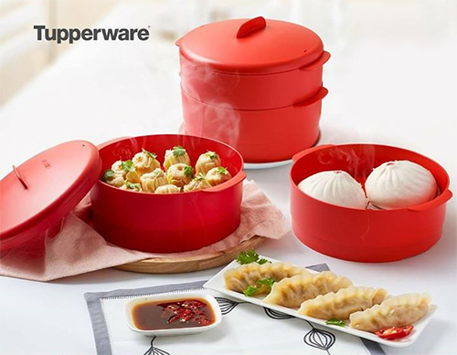 xửng hấp steam it 2 tầng tupperware