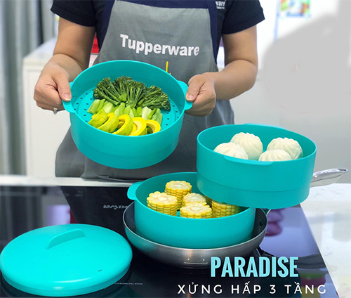 xửng hấp steam it paradise 3 tầng