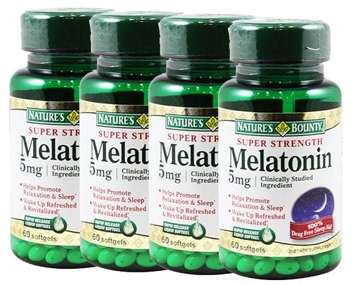 Điều trị chứng mất ngủ về đêm - Viên uống Melatonin 5mg