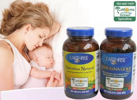 Tảo mặt trời chăm sóc sức khỏe mẹ bầu và lợi sữa khi nuôi con