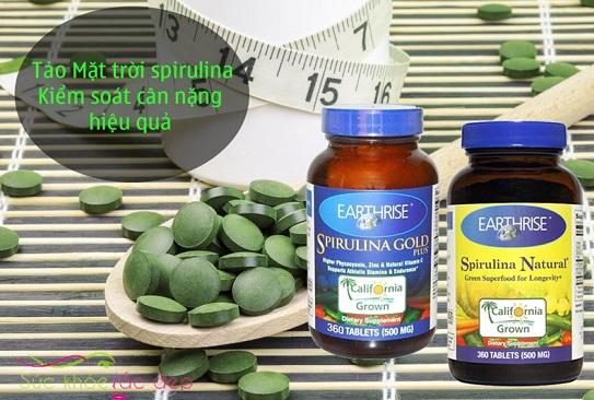 Tảo mặt trời Spirulina giúp giảm cân, kiểm soát cân nặng