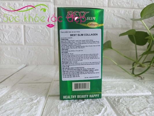 Best Slim Collagen USA Viên Uống Giảm Cân, Hạ Mỡ Máu
