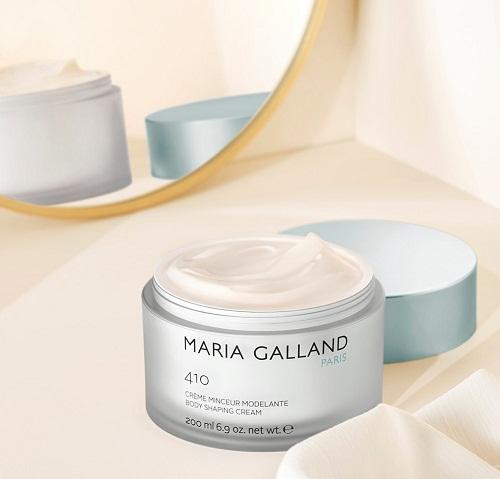 maria galland 410 body shaping cream thẩm thấu vào da nhanh chóng